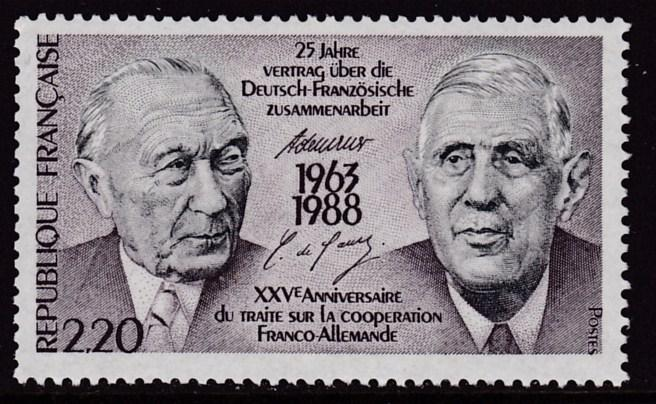 France 1988 Scott 2086  Franco-German Cooperation  VF/NH