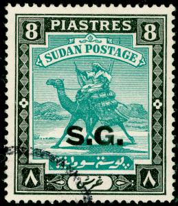 SUDAN SGO40c, 8p emerald & black, FINE USED. Cat £45.