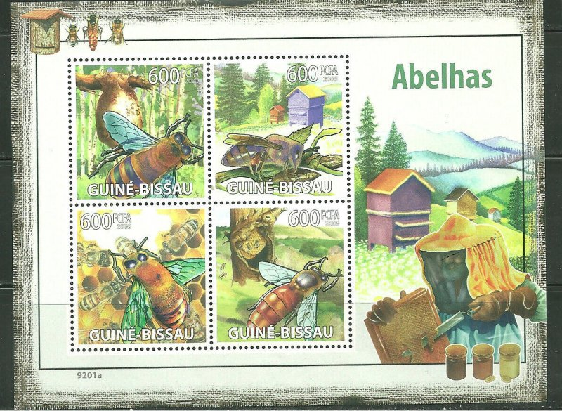 Guinea-Bissau MNH S/S Honey Bees Insects 2009