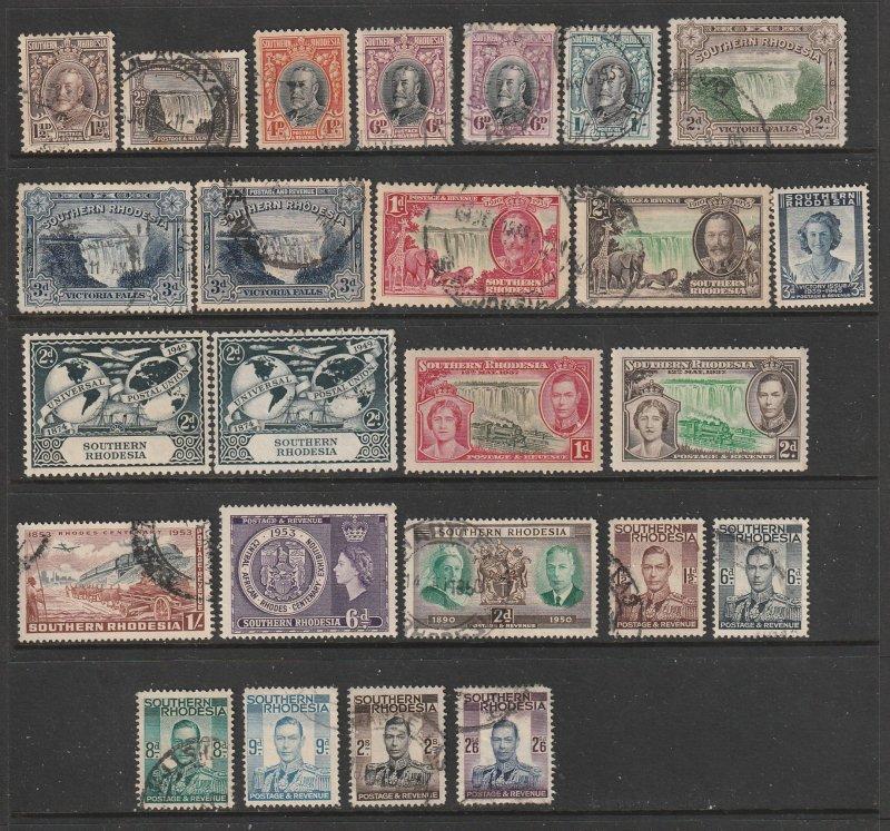 Southern Rhodesia a selection of KGV &VI