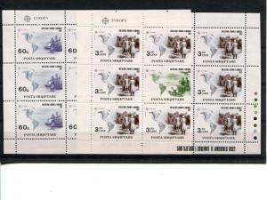 Albania 1992 Europa sheets VF NH - Lakeshore Philatelics