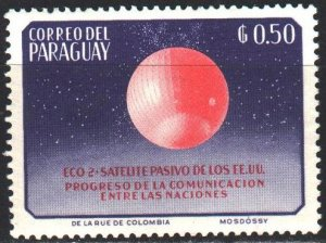 Paraguay. 1962. 1091 from the series. Red planet, space. MNH.