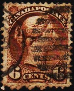 Canada.1870 6c S.G.107 Fine Used
