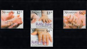 Niuafo'ou 2013 MNH Royal Baby 4v Set Birth Prince George William Kate Cambridge