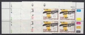 South West Africa, Scott 614-617, MNH blocks of four