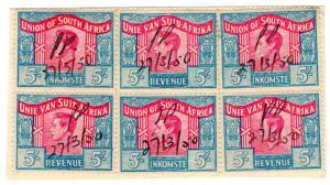 (I.B) South Africa Revenue : Duty Stamp 30/- (language error)