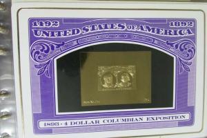 US Stamps 23 Karat Gold Proofs 34 Classics