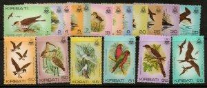 KIRIBATI SG163/78 1982-5 BIRDS MNH