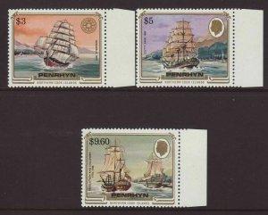 1984 Penrhyn Is Ships Set Unmounted Mint SG337/355
