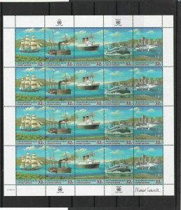 United Nations 1997 Celeb. Transportation Mint Never Hinged Stamps Sheet R18433