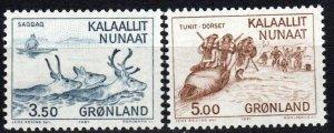Greenland #146-7  MNH CV $2.50 (P656)