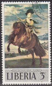 Liberia 489 Prince Balthasar Carlos on Horseback 1969