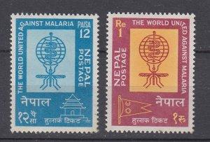 J28746, 1962 nepal set mnh #135-6 WHO medicine