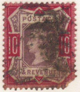 Great Britain #121 used md - 10d Victoria