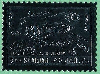 Sharjah MI1063a Silver Foil MNH Future Space Achievement