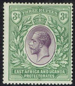 EAST AFRICA AND UGANDA 1921 KGV 3R WMK MULTI SCRIPT CA