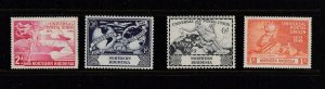 NORTHERN RHODESIA  # 50-53  VF-MLH  UNIVERSAL POSTAL UNION / 75th ANV. / LOT #2