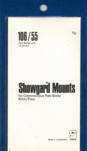SHOWGARD BLACK MOUNTS 106/55 (20) RETAIL PRICE $8.35
