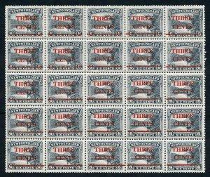 Newfoundland 1929 3c on 6c Slate SG188 Complete Pane