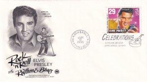1993, Honoring Elvis Presley, Art Craft/PCS, FDC (E11352)