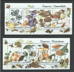 RM005 1994 ROMANIA NATURE FLORA MUSHROOMS #5005-5012 2KB MNH