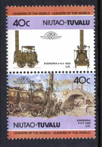 Tuvalu Niutao 14 Trains MNH VF