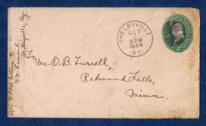 US Sc U311A Postal History Cover Stamped Envolope Cancel Shelbyville KY (1894):