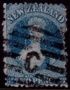 NEW ZEALAND 1864 2d Chalon perf 12½ used...................................41701