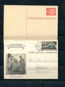 Switzerland 2 Post cards VF  -    Lakeshore Philatelics