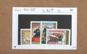 Laos  325-328  MNH