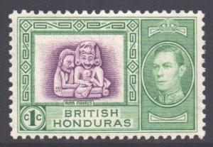 Br Honduras Scott 115 - SG150, 1938 George VI 1c MH*
