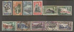 Ceylon #264-74 Used