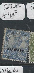 KUWAIT   (PP2704B) ON  INDIA KGV   3A     SG 7   VFU