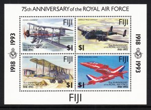 Fiji 691 Airplanes Souvenir Sheet MNH VF