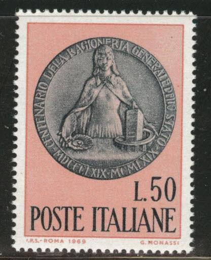 Italy Scott 999 MNH** 1969 Memorial Medal stamp