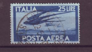 J21500 Jlstamps 1945-7 italy used #c111 swallows birds