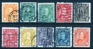 Canada 162-170 172 Used
