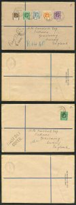 Leeward Islands 1938 Part Set of 7 values used on 2x FDC in Antigua