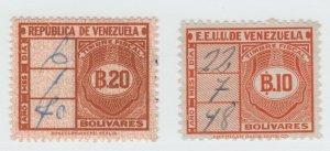 Venezuela Cinderella Revenue Fiscal stamp 9-25-21-