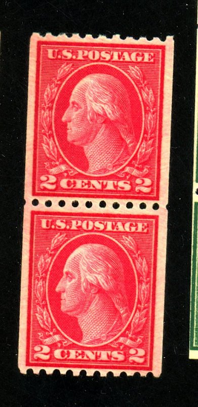 487 MINT Pair F-VF OG NH Cat $ 65.00