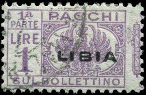 Libya Scott #Q19v Left Half Used Parcel Post Stamp