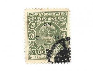 India Cochin State 1941 - Scott #O54A