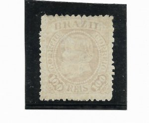 BRAZIL YEAR 1883 Emperor Dom Pedro 100R Rose Scott 90 b Solid Mint Hinged VF