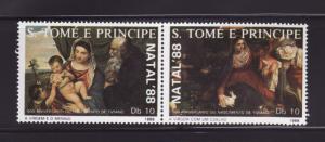 St Thomas and Prince Islands 850a-850b MNH Art Titian Paint
