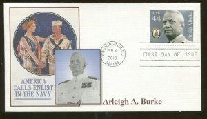 2010 Washington DC - Distinguished Sailors - Arleigh A. Burke - Fleetwood FDC