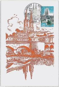 37212   MAXIMUM CARD  - FRANCE : ARCHITECTURE 1966