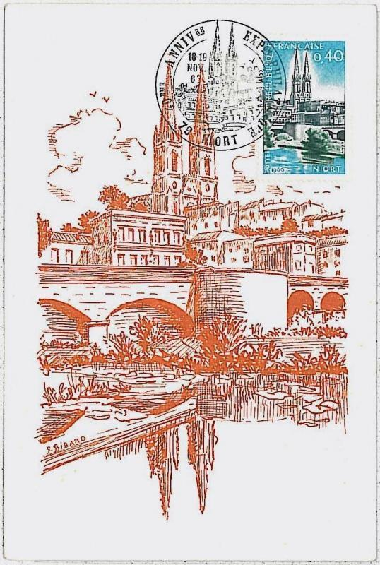 37212   MAXIMUM CARD  - FRANCE : ARCHITECTURE 1966