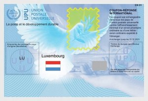 Luxembourg 2017 International Reply Coupon IRC