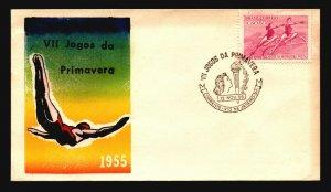 Brazil 1955 VII Jogos FDC / Nice Cachet / UA - L3624
