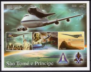 SAO TOME & PRINCIPE 2006 SPACE APOLLO CONCORDE s/s Imperforated Mint (NH)